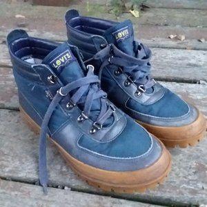 Levi's Leather Chukka Boot Blue Men's 8.5 D